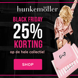 Hunkemoller Friday 2019 Aanbieding Korting Alle Black Friday aanbiedingen op één site banner 1