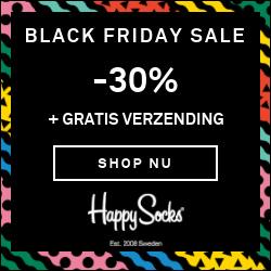 Happy Socks Black Friday 2019 Banner Aanbieding Korting Alle Black Friday aanbiedingen op één siteXL